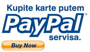 Kupite karte putem paypal servisa